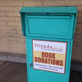 Friends of the Tempe Public Library Book Donation Drop Box