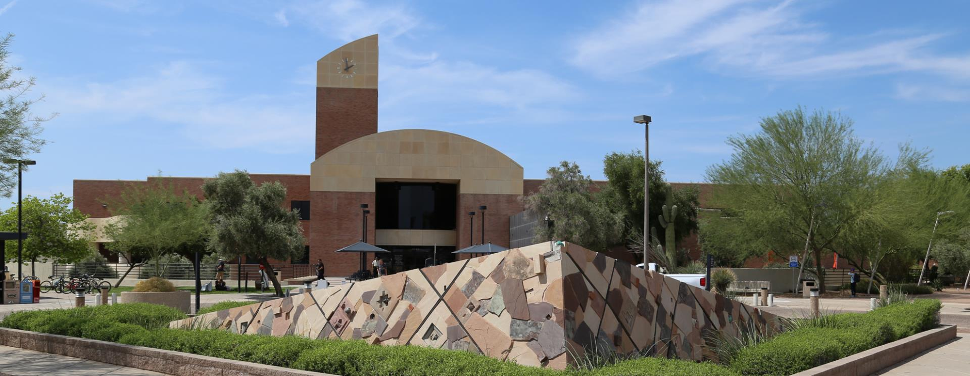 Front of the Tempe Public Library