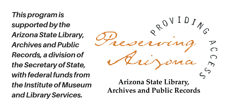 Arizona State Library Logo with Words
