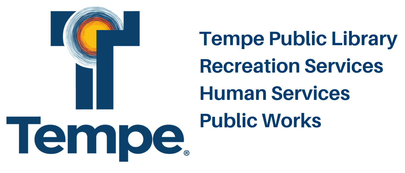 Tempe Library, Recreation, Human Services, Public Works Logo